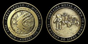 NEW Medallion, Apollo 15 With Flown To Lunar Orbit Metal